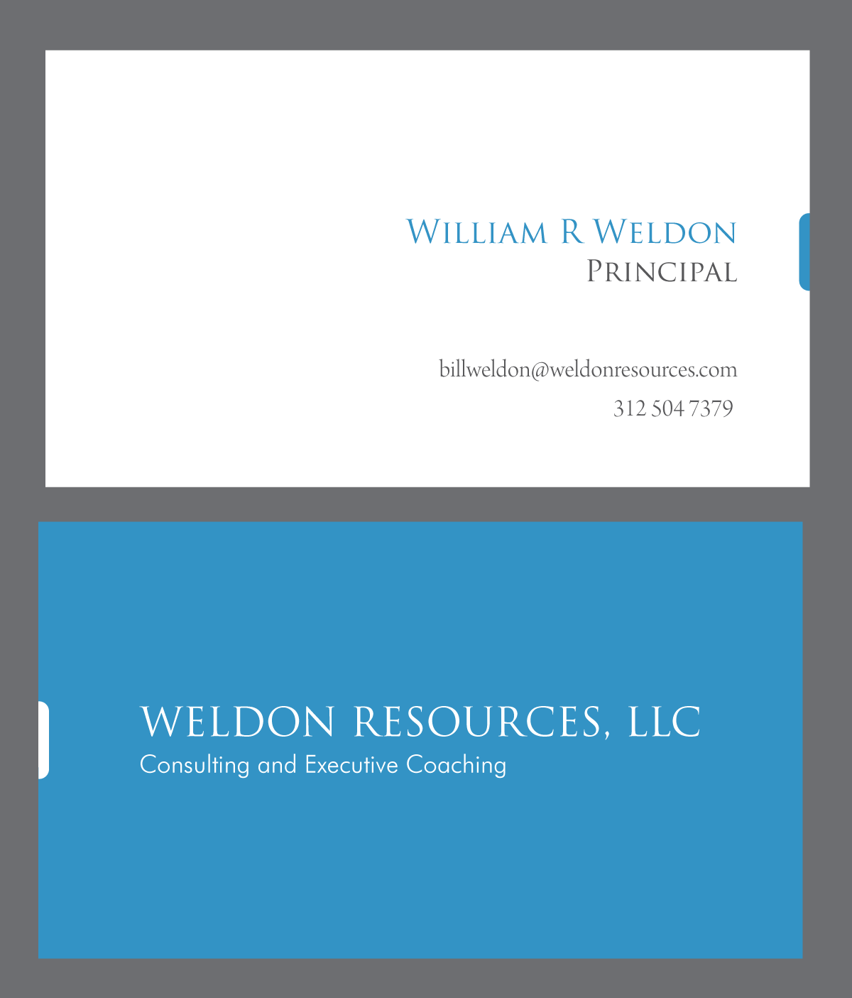 Create the next business card for WELDON  RESOURCES, LLC