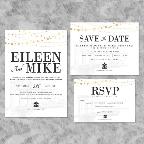 Eileen & Mike Wedding Invites