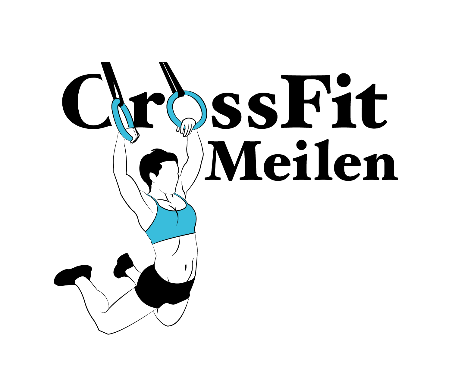 Fun and sportive Logo for CrossFit Studio with a brother