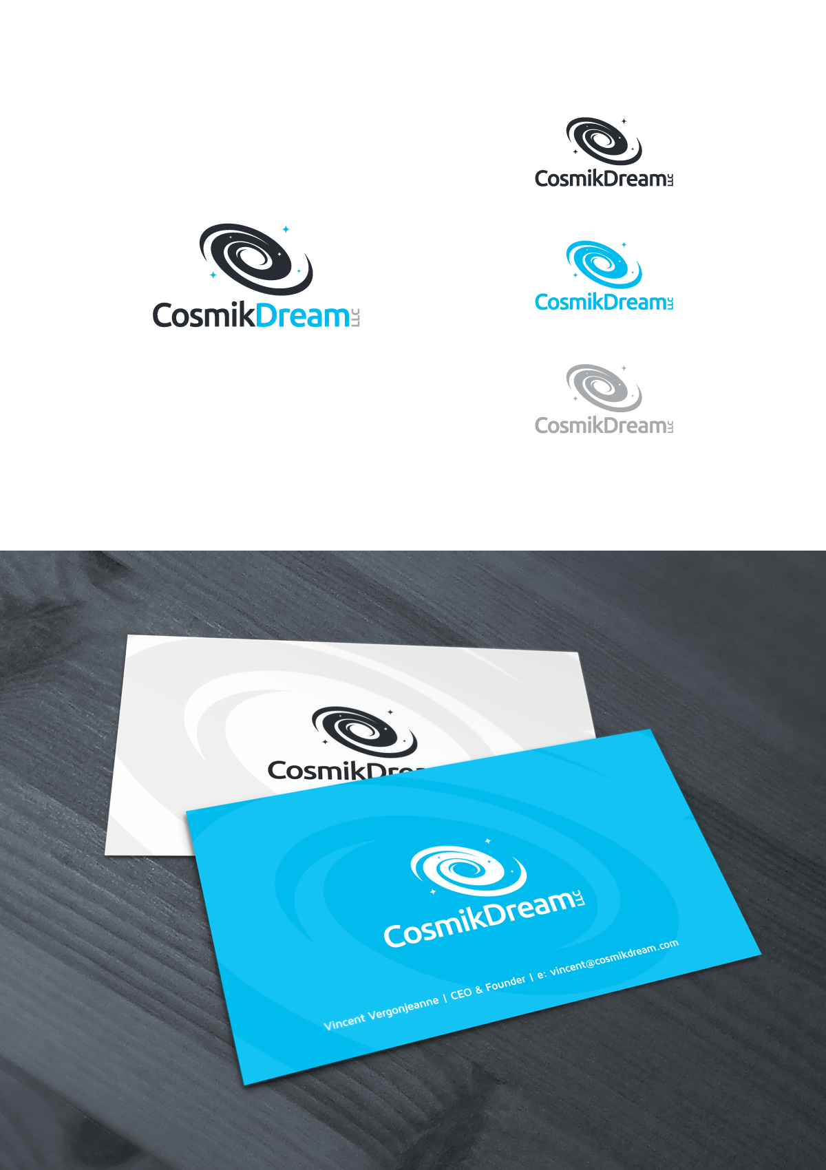 New logo and business card wanted for Cosmik Dream LLC