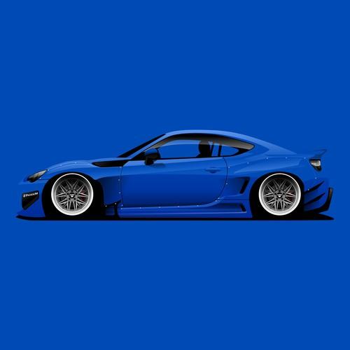 Pandem Toyota GT-86 illustration for Awlest Wheels.