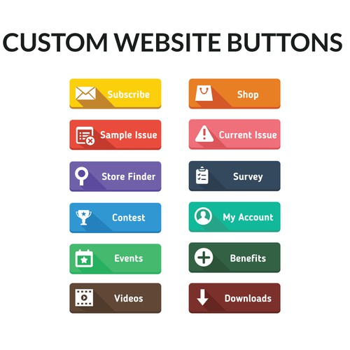 Button icon set design