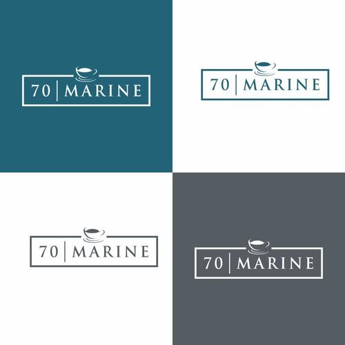 70 marine caffe logo