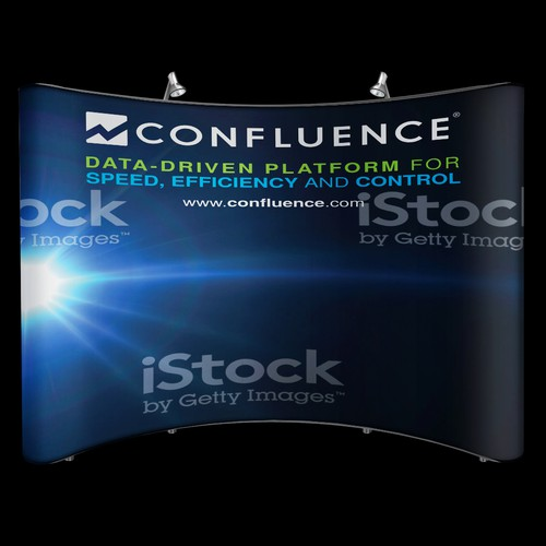 Trade Show Booth Panel - Confluence - Clean and Simple Design
