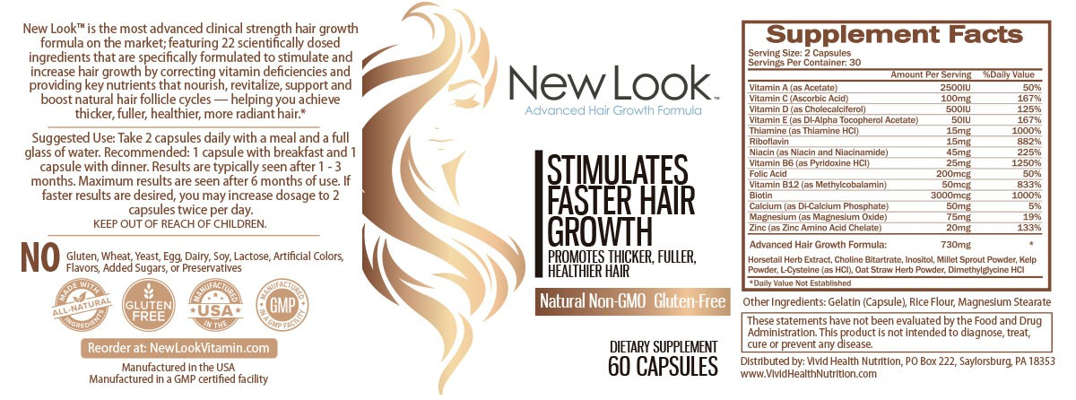 Hair Supplement needs fresh, new label design!