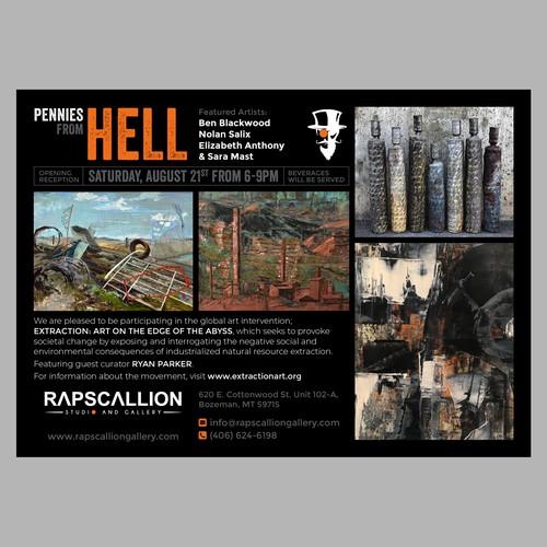 Art Exhibition Postcard Design