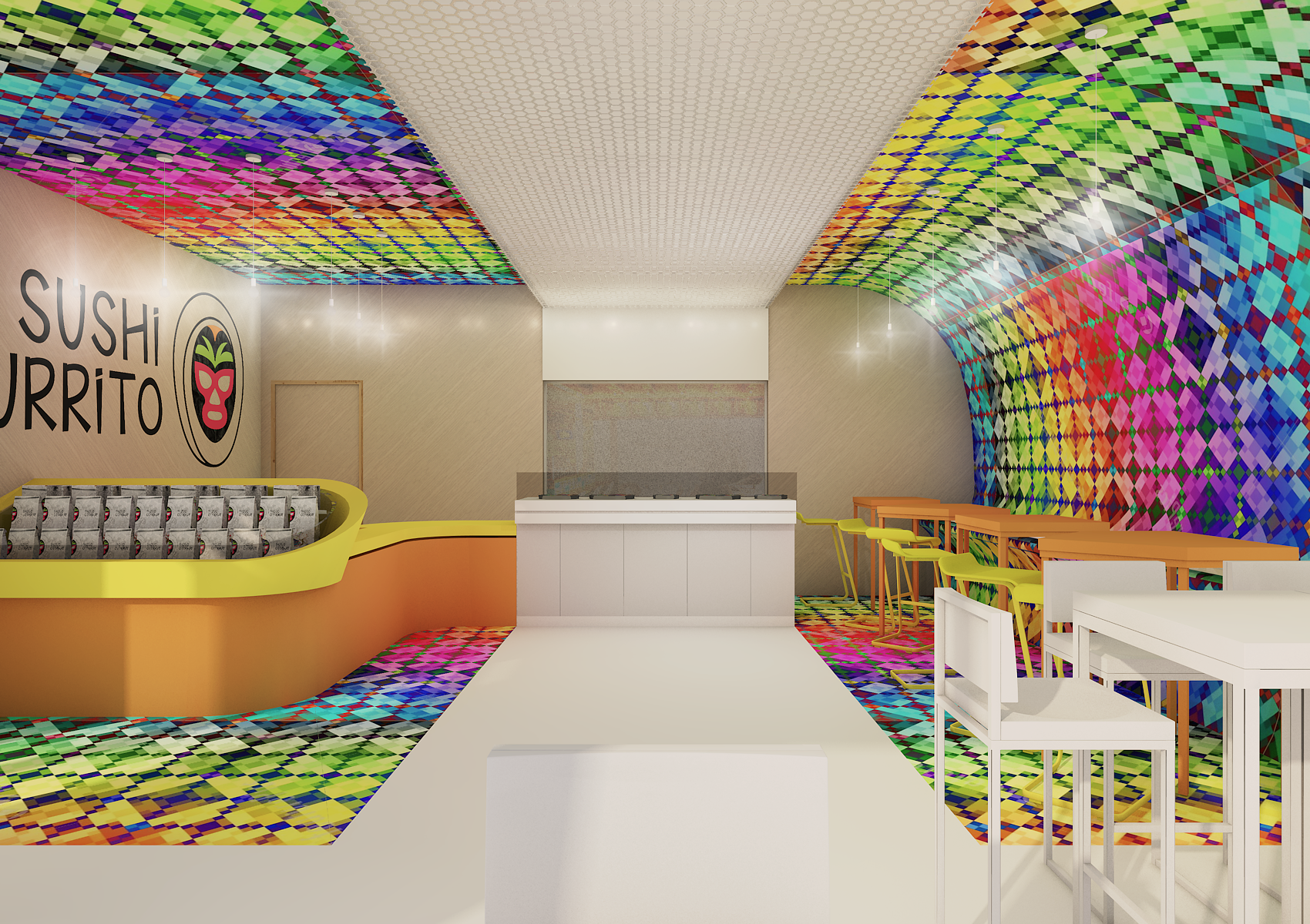 GUARANTEED 3D Interior Design for a NEW restaurant concept