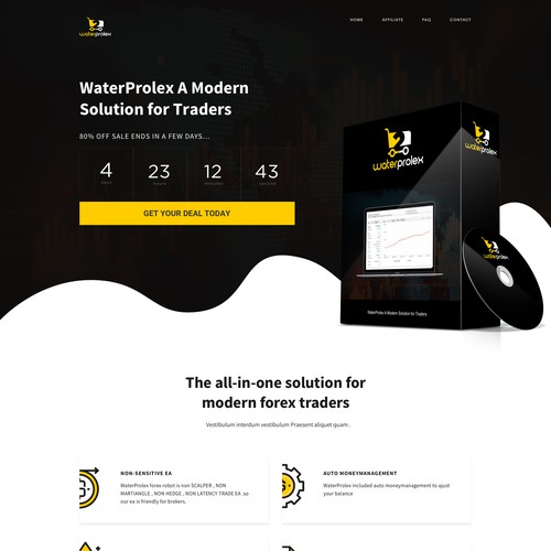 Conepet for a Forex Robot landing page