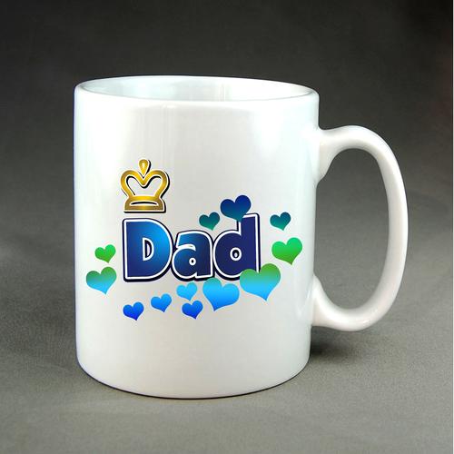 Dad + hearts mug