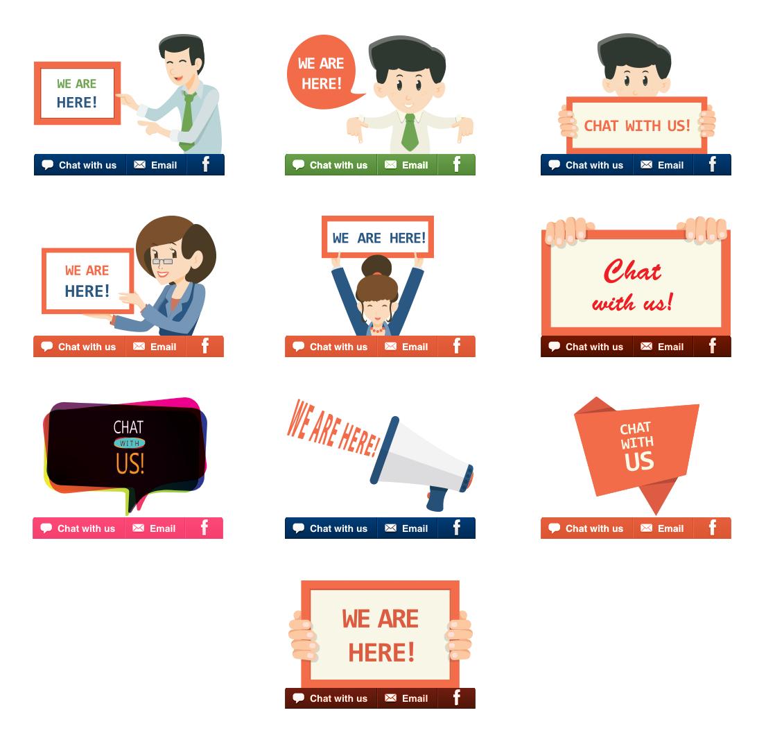 Are you creative enough? Design attractive chat invitation