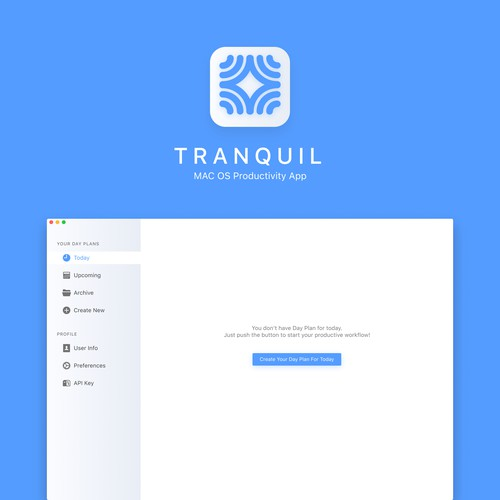 Tranquil — Mac OS Productivity App