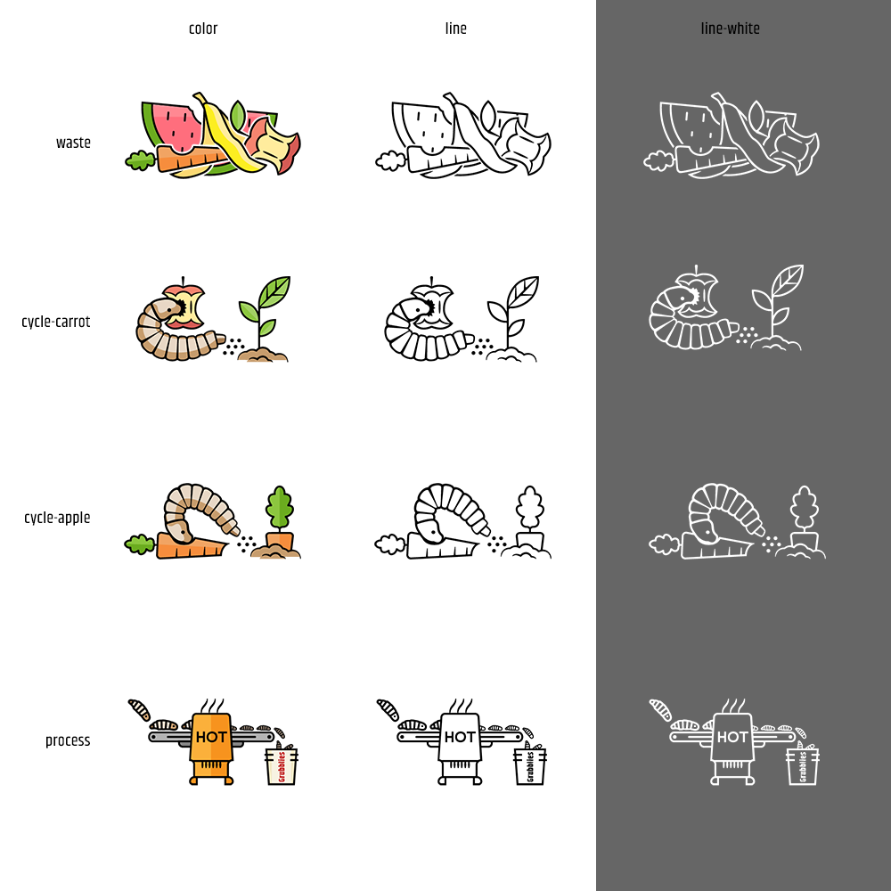 Grubbly Process Icons