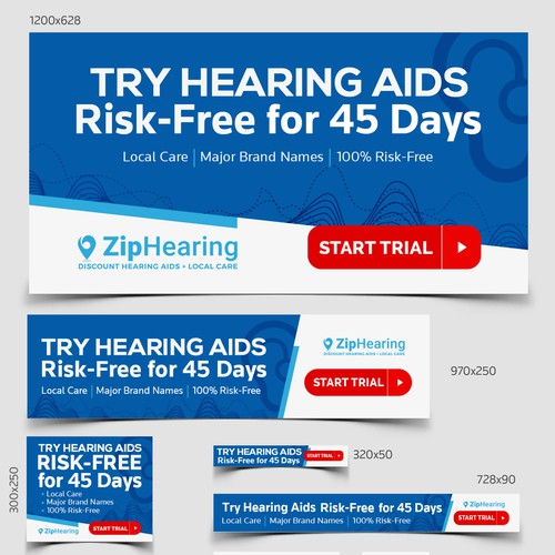 Banner Ads for Zip hearing