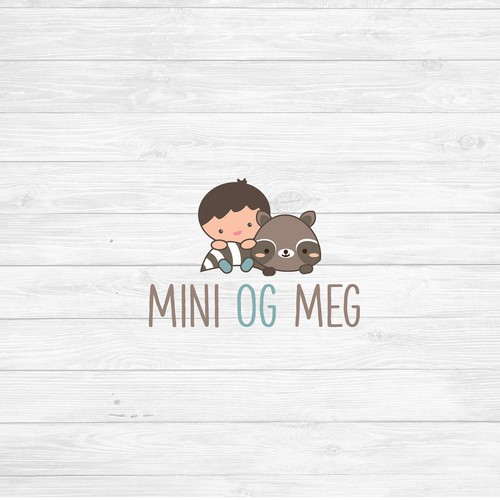 Cute and adorable logo for the online kids store