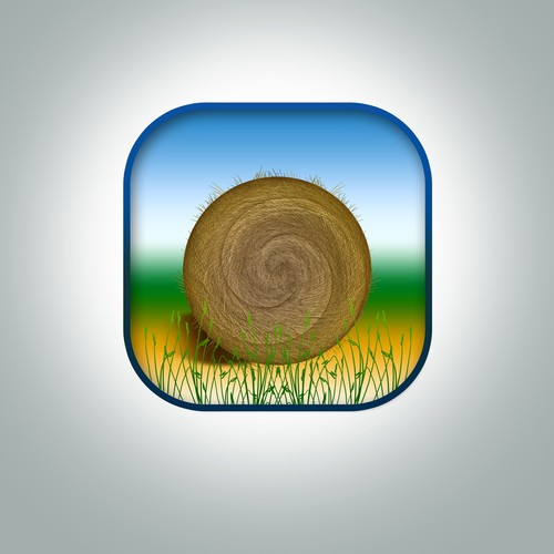 Construct a simple yet captivating iOS App icon for an agriculture company.
