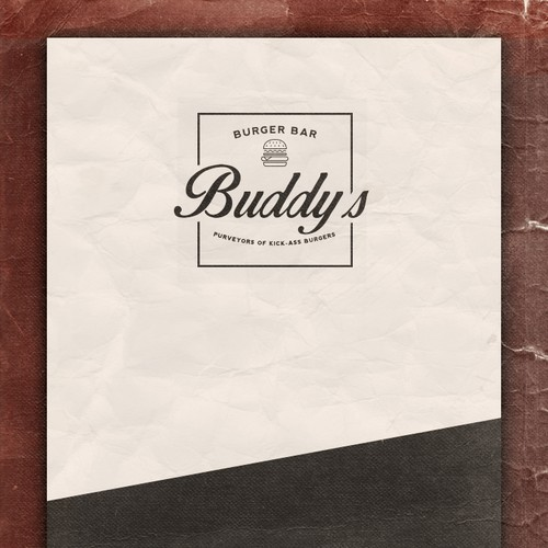 Design a simple, rustic and fun logo for a gourmet burger restaurant.