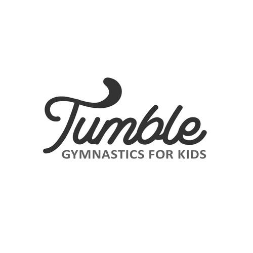 Simple logo for kids gymnastics