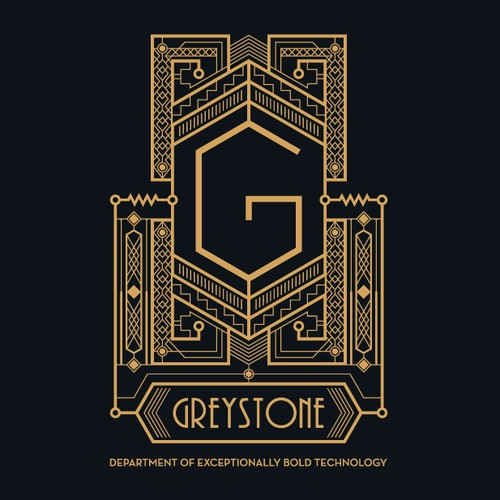 Art Deco logo for Greystone