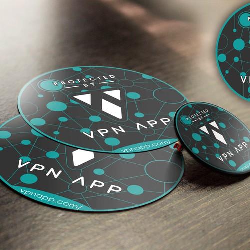 Sticker Design for VPN APP