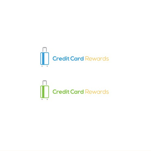 Clever logo concept for credit card-travel startup
