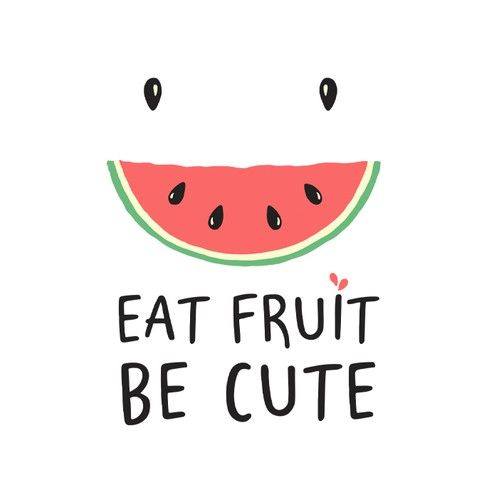 eat fruit be cute