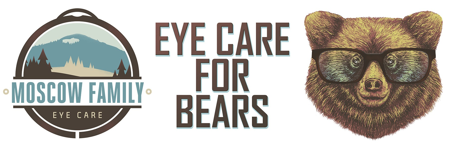 Bear / Moscow Family Eye Care Poster