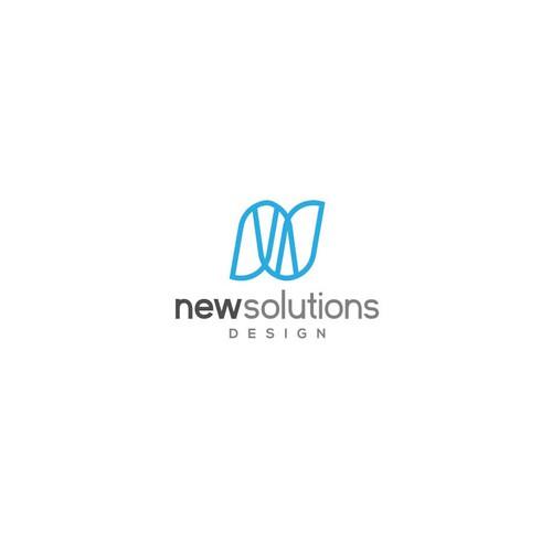 Logo design concept for New solution design