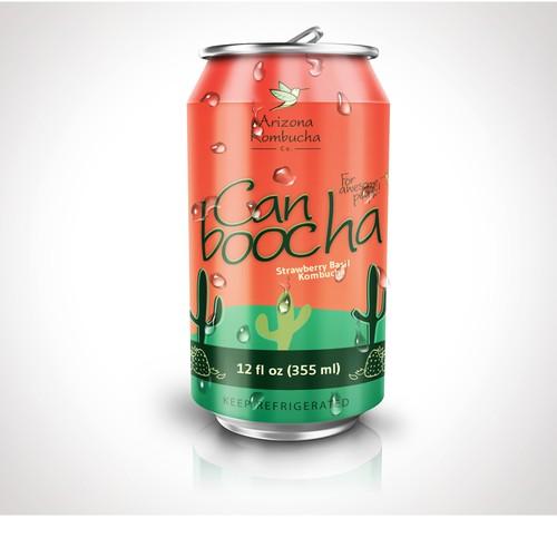 Bold design for beverage label