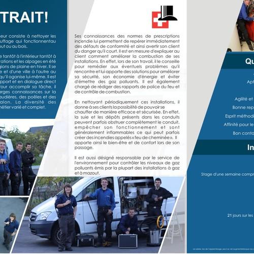 Nouveau projet dans la catégorie brochure design pourService de ramonage Joël Chesaux