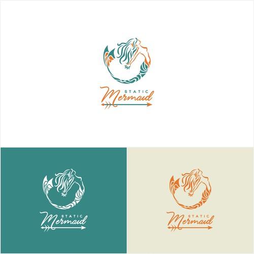 Design a unique logo for Static Mermaid