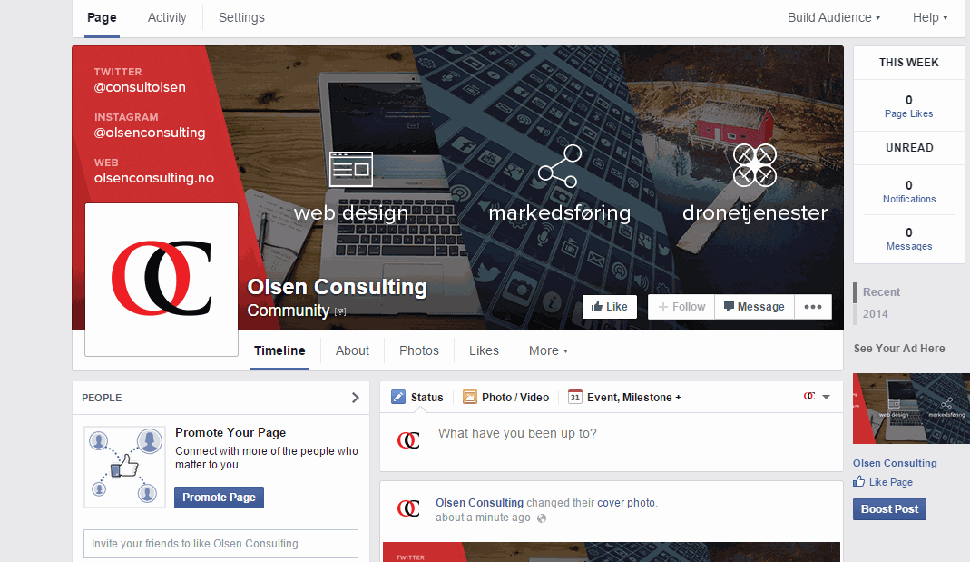 Facebook Page Cover and Profile Picture