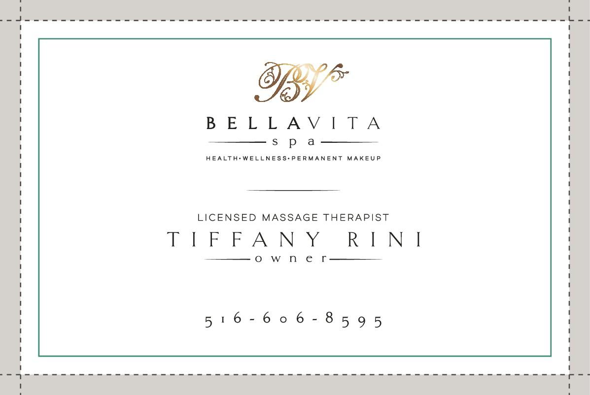 Business card for Bella Vita Spa
