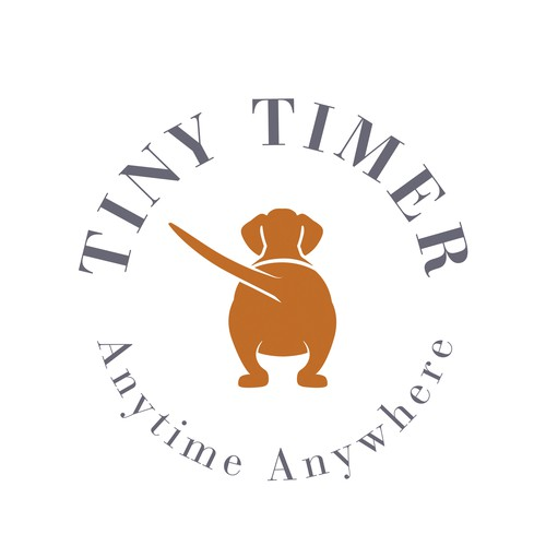 Logotipo con mascota para reloges y temporizadores deportivos