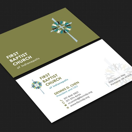 Business card concept for First Baptist Church