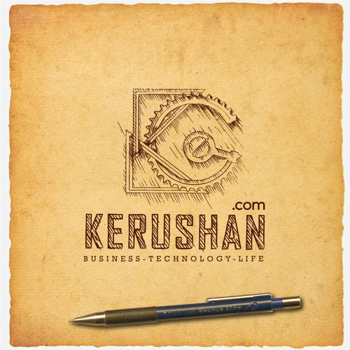 Da-vinci Sketching style logo