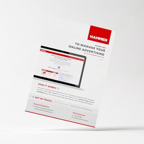 Minimalist Flyer Design for HAMMER-Corp