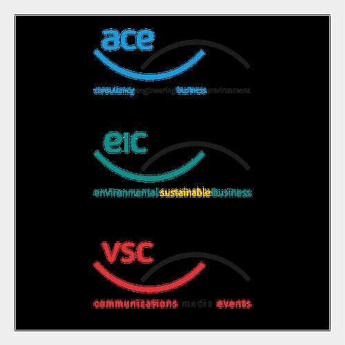Three Brands connecting identity logo