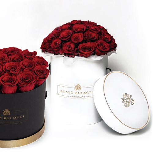 Logo for a box for luxurious preserved rose-heads