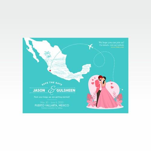 Bold Wedding Card Design for Jason