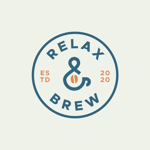 Emblem Logo for coffee and tea company supporting mental health.