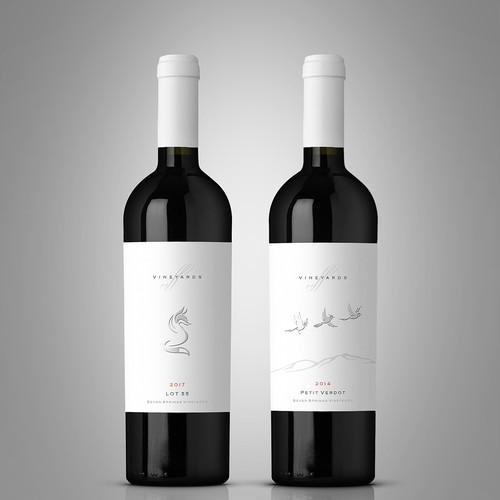Seven Springs Vineyards labels