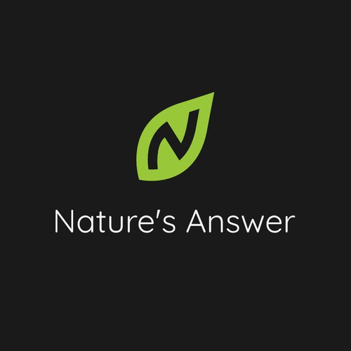 Minimalist Logo for Natural Therapy Company