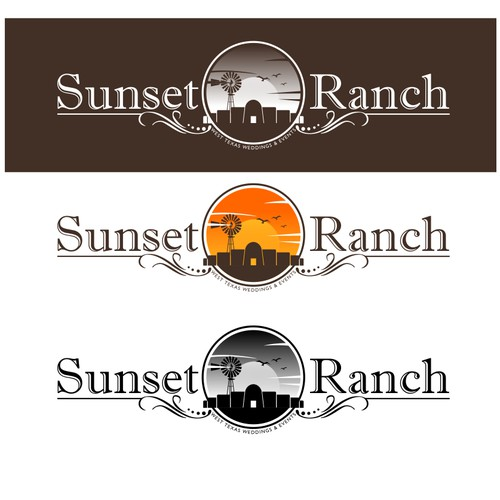 """Sunset Ranch"" Wedding Event Venue needs a logo"