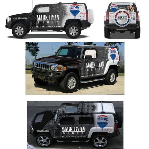 Outside the box real estate Hummer WRAP!!!  Creative peps wanted!