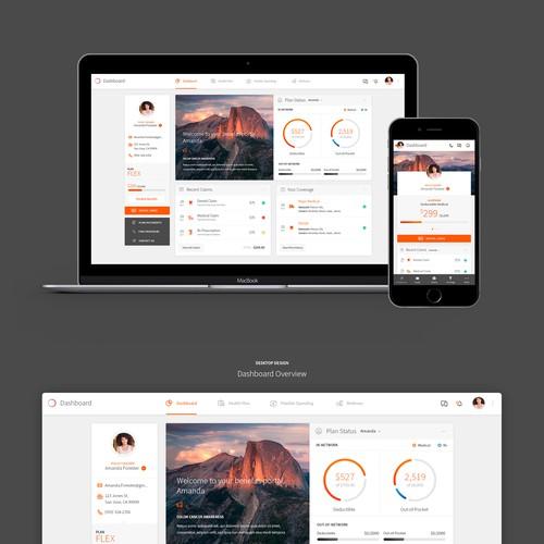 Insurance Company Portal Design