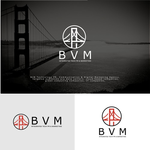 BVM bridge logo concept