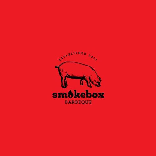Logo concept for smokehouse bbq
