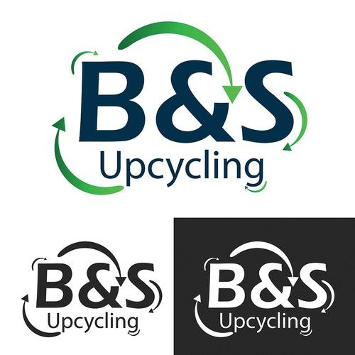 create a logo for a different type of recycling company