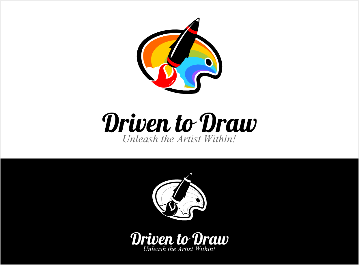 Create an Inspiring Logo for our new blog, Driven to Draw! An Art and Design Tutorial Site