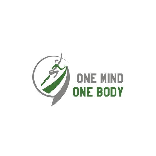 One mind one body logo designs .